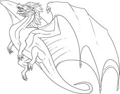 This Dragon Has A Large Wing Coloring Pages For Kids Printable Dragons