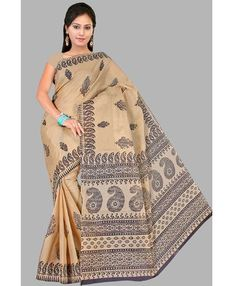 Pavechas Floral Print Cotton Sari @ 299 Buy at http://fkrt.it/RHj4bZNN More Offers on Sarees @ http://www.aapkabazar.in/clothes