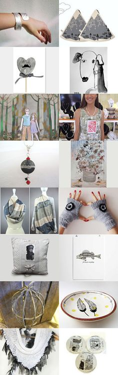 16 shades of grey by beigebois on Etsy--Pinned with TreasuryPin.com