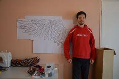 tutorial for creating wings Diy Angel Wings, Diy Wings, Make Tutorial, Cosplay Tutorial, Wings Sketch, Cosplay Wings, King Costume, Xayah And Rakan, Eagle Wings