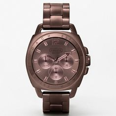 Coach Boyfriend Ionic Plating Bracelet Watch ($398) ❤ liked on Polyvore