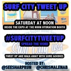 Are you running the Surf City Marathon? Join our Brand Ambassadors @Stephanie Ellison Sharp Run and @Christopher Stowe Malenab at the #SurfCityTweetUp Saturday 2/1 at Noon inside the Expo at the Nuun Hydration Booth | Tweet Up and Walk Away with Some Goodies!