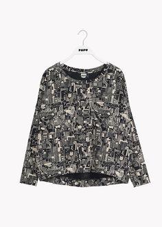 GIANT-paita, Night In The City, aikuisten – Papu Giants Shirt, Black Cream, Organic Cotton, Night, City, Blouse, Model, How To Wear, Shirts