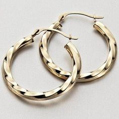 Buy 10K Yellow Gold Round Click Hoop Earrings Online & Reviews