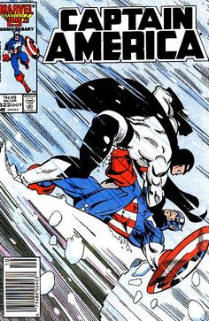 Captain America # 322 by Paul Neary & Joe Rubinstein Marvel comics comic book cover Marvel Comics Superheroes, Marvel Comic Books, Comic Books Art, Comic Art, Dc Comics, Book Art, Marvel Characters, Steve Rogers, Captain America Comic Books