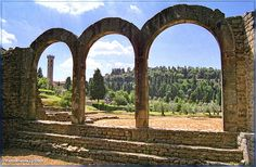 Roman Arches, Fiesole, Tuscany, Italy by nigelfj, via Flickr