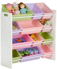 I use this in Ten's closet for her onesies, hairbows, socks, etc. Works great and way cheaper than a dressers that takes up play space!