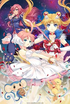 Revolutionary girl utena, sailor moon, and princess tutu all in one picture? YES.
