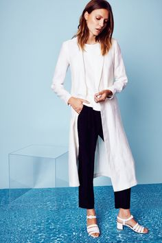 VEDA Dustin linen coat + Arch leather tank + Line pants from the SS15 Collection