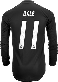 f6be08f706d 2018 19 adidas Gareth Bale Real Madrid Authentic L S Away Jersey