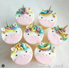 I Birthday Ideas, Birthday Parties, Birthday Cake, Bolo Hello Kitty, Unicorn Cupcakes, Raven, Party Ideas, Cookies, Desserts