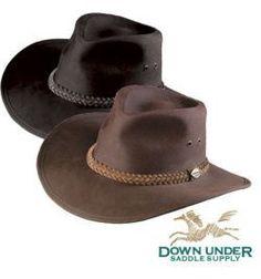 Down Under Australian Oilskin Hat Black Large c2a0b93f59ff