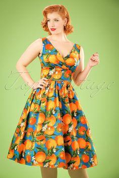 Dancing Days by Banned Laneway Orange Dress 102 39 20896 20170201 0004 W