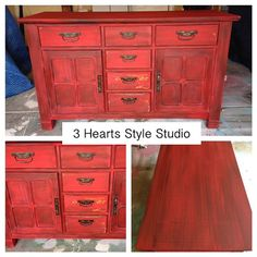 Diy Furniture Red Buffet Credenza Sideboard Media Console By Painted Furniture  Denver And Colorado Springs. Chippy Paint  Read More U2013