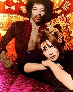 """Kathy Etchingham and Jimi Hendrix.  the original """"Foxey Lady""""."""