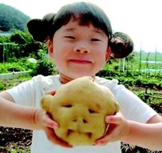 In Celebration of Children's Day and Kids in China - chinaSMACK Weird Fruit, Funny Fruit, Weird Food, Strange Fruit, Funny Vegetables, Veggies, Things With Faces, Bizarre, Exotic Fruit