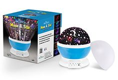 Night Lighting Lamp  Light Up Your Bedroom or Living Room With This Moon Star Sky Romantic LED Nightlight Projector  Adults Children Relaxing and Sleeping Aid  Best Gift for Men Women Teens Kids *** Read more reviews of the product by visiting the link on the image. (Note:Amazon affiliate link)