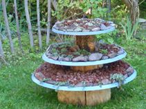 satellite dish tiered planter