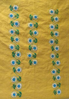 Hand Embroidery Design Patterns, Basic Embroidery Stitches, Hand Embroidery Videos, Hand Embroidery Tutorial, Embroidery Flowers Pattern, Embroidery On Kurtis, Hand Embroidery Dress, Embroidery Works, Creative Embroidery