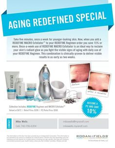 Is your skin giving away your age? Contact us @Wendy Werley-Williams.mikewells.myrandf.com and start the year off right and erase those signs of aging!