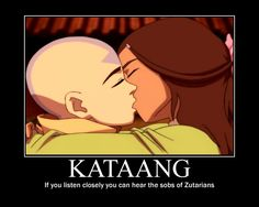 My friend (who ships Kataang) told me I have no sympathy for this ship so I made this to prove her wrong.I don't hate Kataang.I just love Zutara more! Avatar The Last Airbender Funny, The Last Avatar, Avatar Funny, Avatar Airbender, Avatar Aang, Ang And Katara, Atla Memes, Im Crazy, Cartoon Memes