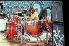 John Bonham of Led Zeppelin in Kezar Stadium, San Francisco, California, June 2, 1973.