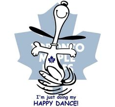 Snoopy doing the Happy Dance Hockey Baby, Ice Hockey, Montreal Canadiens, Toronto Maple Leafs Logo, Hockey Live, Hockey Memes, Happy Dance, Peanuts Gang, Good Ole