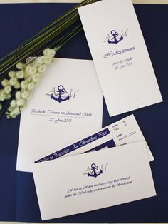Hochzeitseinladung Hamburg, Maritime Einladungskarte für Hochzeit, individuell designt by Die Kartenfrau