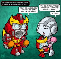 Lil Formers - Nouveau by MattMoylan on DeviantArt Arcee Transformers, Same Love, Comic Books Art, Funny Comics, Hot Rods, Deviantart, Saturday Morning, Awesome Art, Gundam