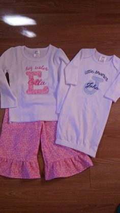 Custom. Big Sister/Little Brother. Braylee's Sew Sweet Boutique