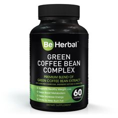 Be Herbal - Green Coffee Bean Extract - Advanced formula with Garcinia Cambogia, Rasberry Ketone and Green Tea Extract - 1300 MG - Natural Supplement for Healthy Weight Loss Support - 60 Capsules ** See this great image @ : Garcinia cambogia