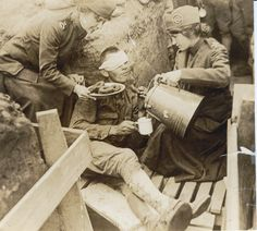 World War I Canteen girls and donuts.