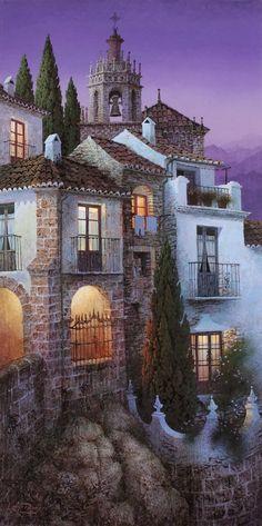 Spray Painter, Paintings, Award Winning, Spanish Artist, Spanish Painter, Illustrator, Landscape, colorful painting, Luis Romero
