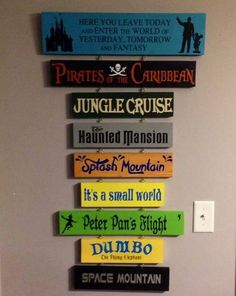 Disney planks. Home decor #disney #disneyhome