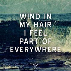 Wind in my hair...