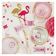 Buy Carte Blanche Flamingo & Cocktails Greetings Card Online at johnlewis.com