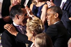 426 Post poll: President Obama well ahead of Mitt Romney in deep-blue Maryland Mitt Romney and President Obama greet each other at the annual Alfred E. Smith Memorial Foundation Dinner in New York this week. Al Smith, Remainders, Astoria Hotel, Swing State, Waldorf Astoria, The Washington Post, Presidential Candidates, Upcoming Events, History