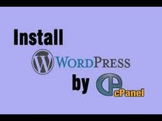 Install wordpress using cPanel for Beginners 2016