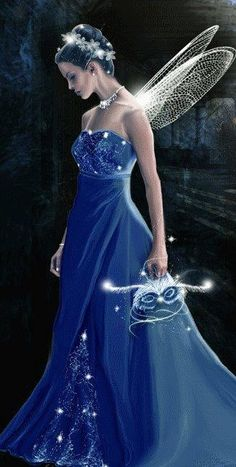 Blue fairy... I could probably crochet the wings! :)