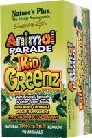 Nature's Plus Animal Parade® KidGreenz® Children's Chewable with Whole Food Concentrates Tropical Fruit