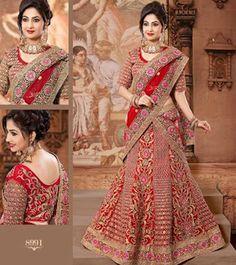 Amazing Red and Golden Designer Bridal Lehenga Choli