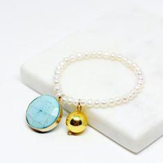 Blue Gold Statement Bracelet
