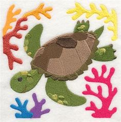 Machine Embroidery Designs at Embroidery Library! - Sea Turtles