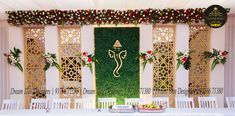 Reach out to DreamDayDesigners to convert ur dream wedding decor into reality! Marriage Hall Decoration, Engagement Stage Decoration, Wedding Stage Decorations, Decor Wedding, Wedding Shoot, Dream Wedding, Flower Rangoli, Backdrops, Nice