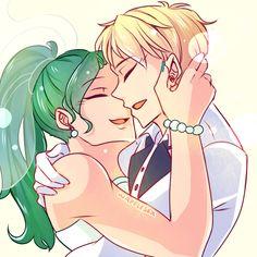 Was commissioned to draw Sailor Uranus and Sailor Neptune at this past Sakura Con~ I love weddings.