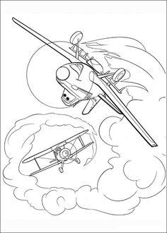 Dibujos para Colorear. Dibujos para Pintar. Dibujos para imprimir y colorear online. Aviones 72