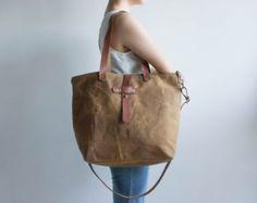 Waxed canvas bag waxed canvas messenger bag waxed от MOOIStudio