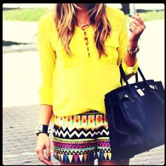 Love the shorts and bright colors!