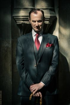 ((Fc: Mark Gatiss)) Good evening. My name is Mycroft Holmes, and I occupy a minor position in the British government. My work often requires I leave the country, but London is my home. Do not approach me unless you have something interesting or intelligent to say.