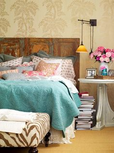 Chic...love the bedding and pillows, ideas for berkley claire's room